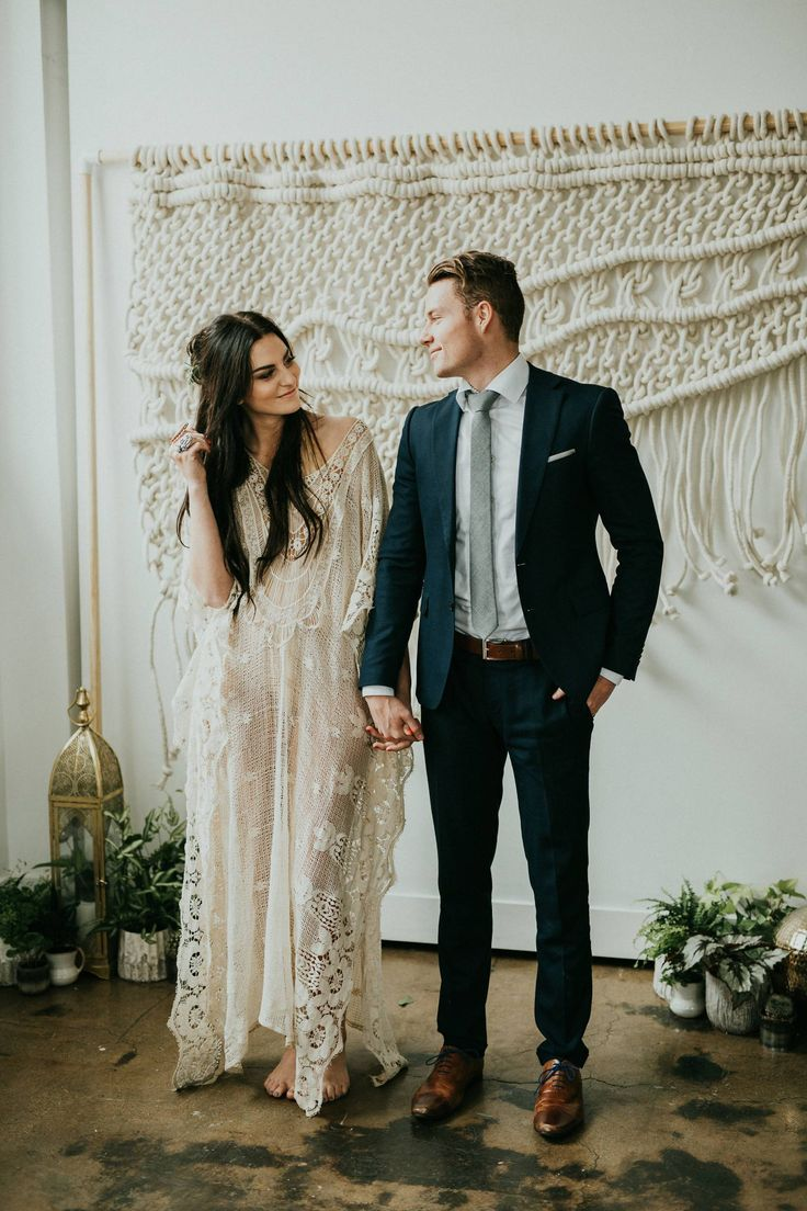 Elegant Bohemian Spring Styled Shoot // Charcoal Loft via Rocky Mountain Bride