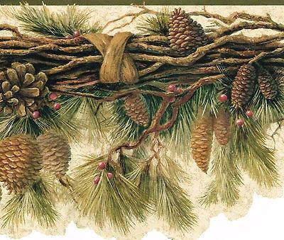 53 Best Pine Cone Wallpaper Border And Decor Images On