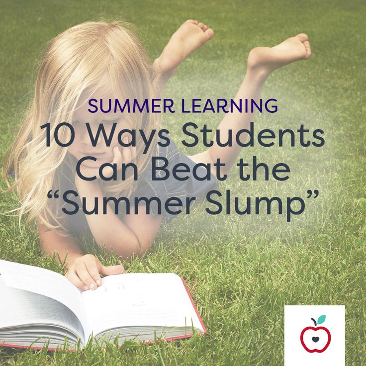 """Summer fun is great, but it's important to keep kids' minds working over break. Just a little bit of practice over the summer can combat potential backsliding and prepare children for the next grade, so at the end of the school year, I send home a list of activities parents can do with their children to beat the """"summer slump."""" Here are 10 of my students' favorite activities."""