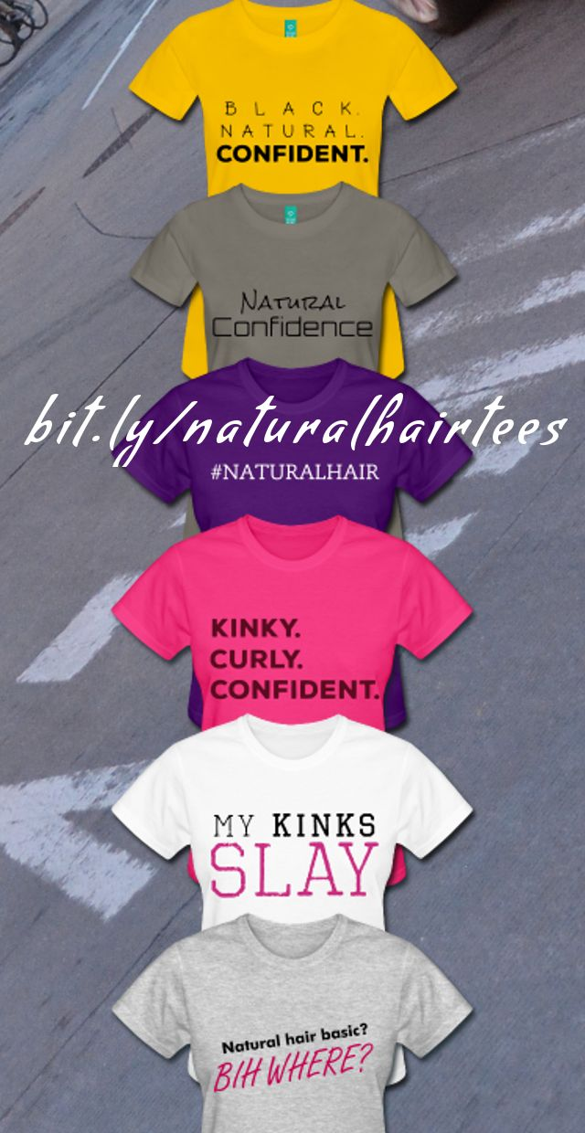 Grab some of the hottest natural hair t-shirts! Rock them with jeans & a fro or dress them up with a twist out & pencil skirt. Either way, express your natural. Purchase by clicking on the picture or by going to the link on the above graphic! XOXO