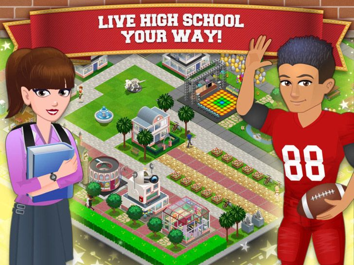 High School Story App by Pixelberry Studios. City building game apps.