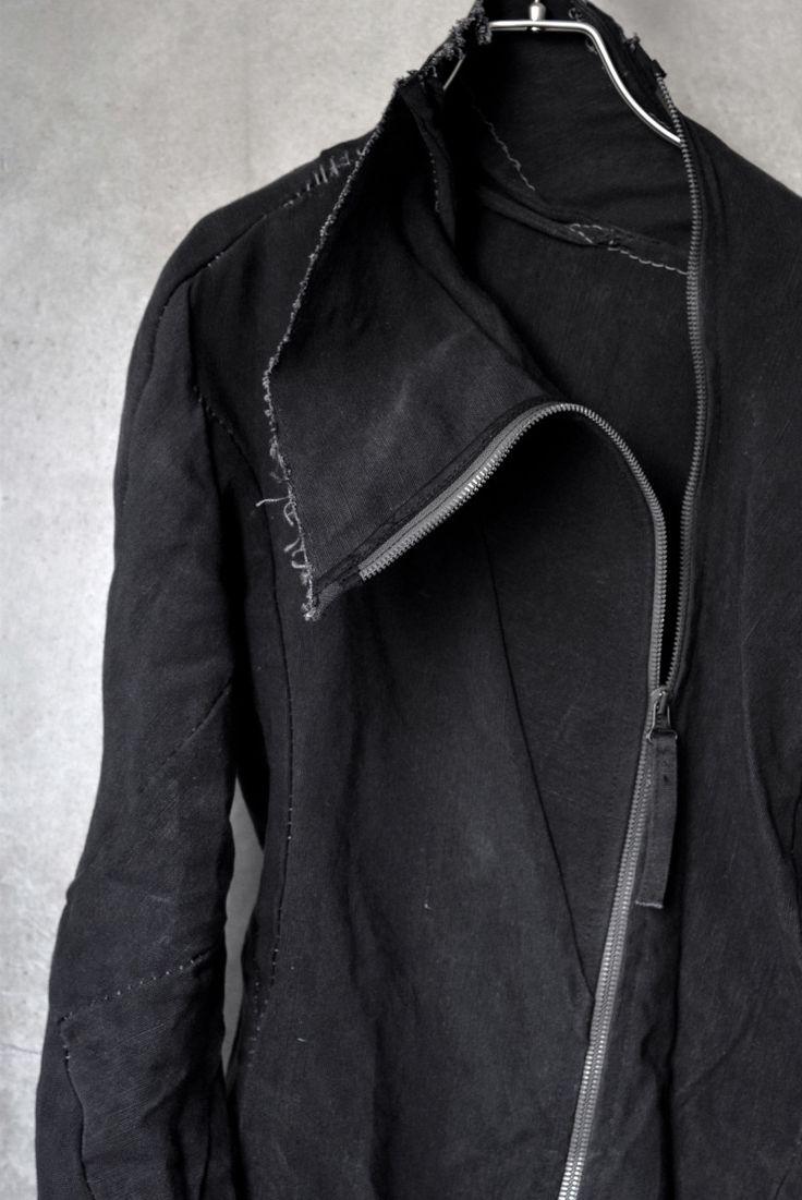 zip jacket, frayed edge