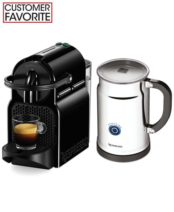 nespresso inissia bundle espresso maker coffee tea espresso kitchen macy 39 s smooothies. Black Bedroom Furniture Sets. Home Design Ideas