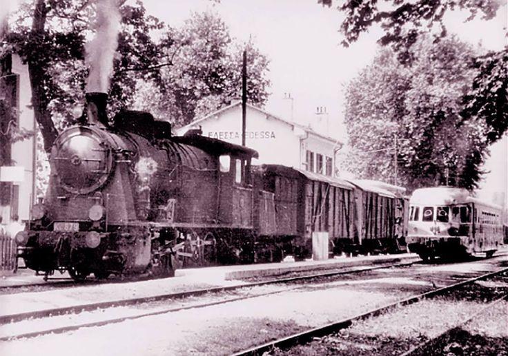 Train station Edessa Macedonia Hellas 1965