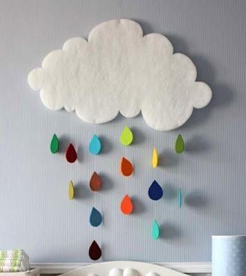 Nuvens de feltro