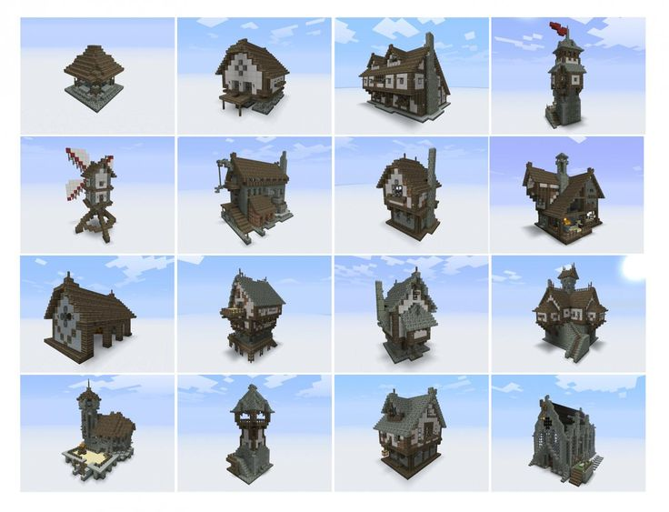 Medieval buildings for town or city... Woooow