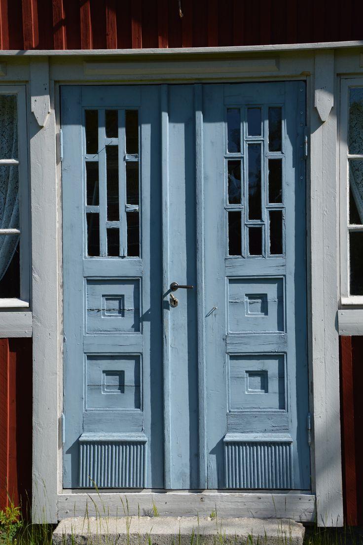 Inredning nordan dörr : BlÃ¥ dörr, Bjärgas hembygsmuseum | Kulturmiljöer i Österbotten ...