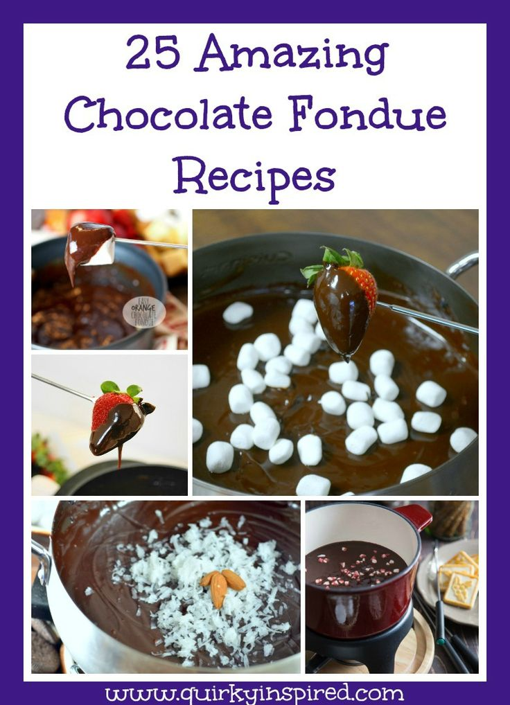 Looking for some delicious desserts? These 25 Amazing Chocolate Fondue recipes are to die for. Love that it has chocolate fondue, dark chocolate fondue, and even a few white chocolate fondue recipes
