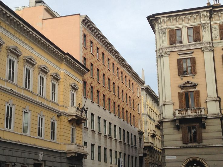 Yellow palaces around piazza Vittorio Veneto