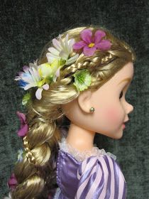 Never Grow Up: A Mom's Guide to Dolls and More!: Disney Princess and Me Rapunzel Braid Tutorial