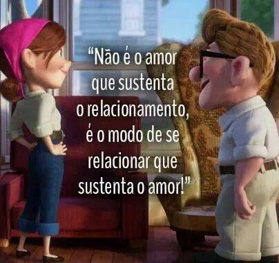 Não é o amor que sustenta o relacionamento...