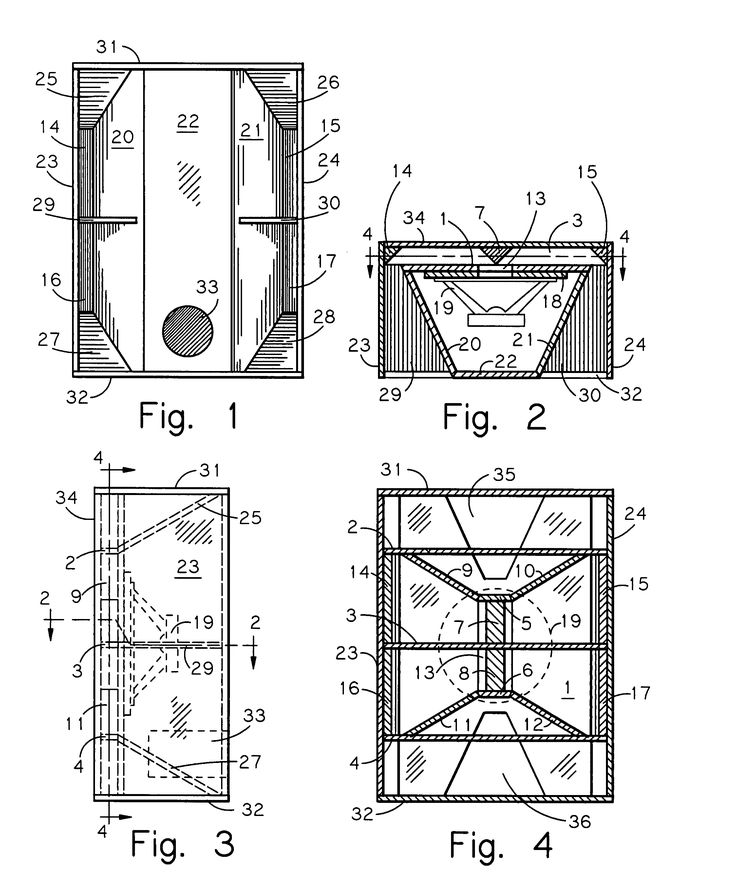 Patent Us7520368 Horizontally Folded Reflex Ported Bass Horn Enclosure Google Patents Diy