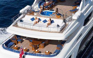 External decks of Mischief Superyacht