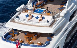 External decks of Mischief Superyacht