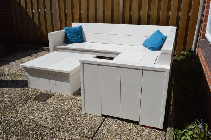 Loungeset voor in de tuin | Hoekbank 'Witte Stranden' VanStoerHout