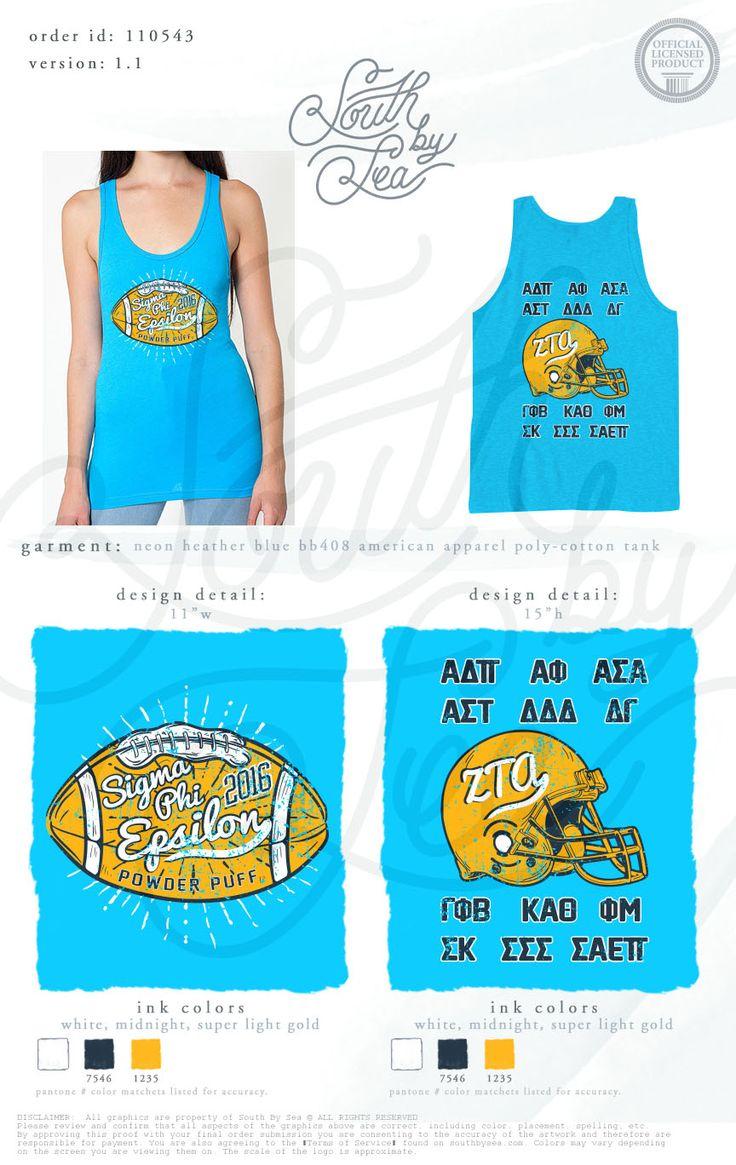 simga phi epsilon sig ep zeta tau alpha zta football theme t shirt design south by