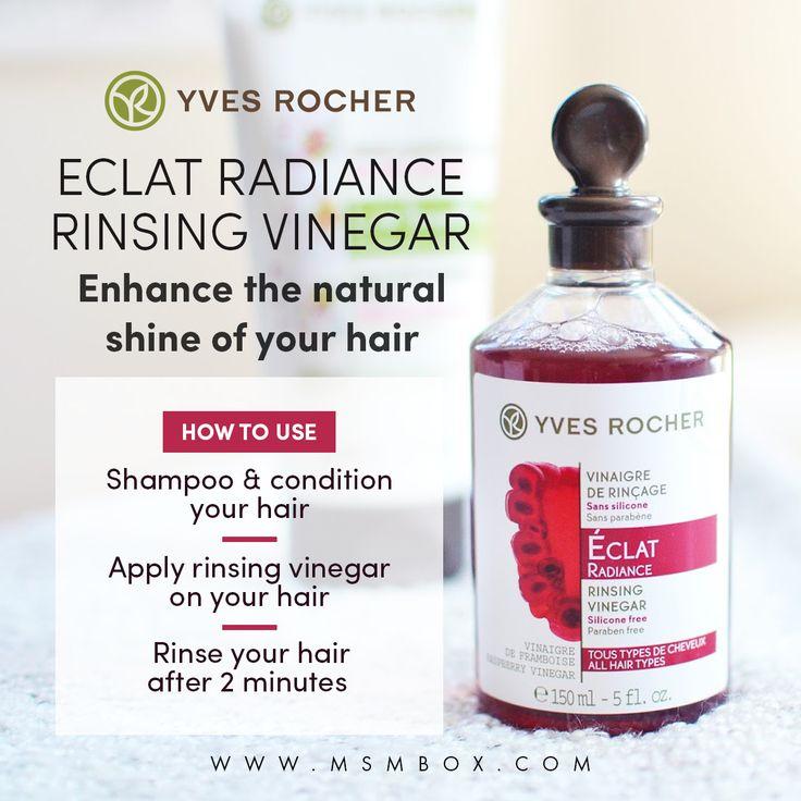 Yves Rocher Eclat Radiance - Rinsing Vinegar  Enhance the natural shine of your hair
