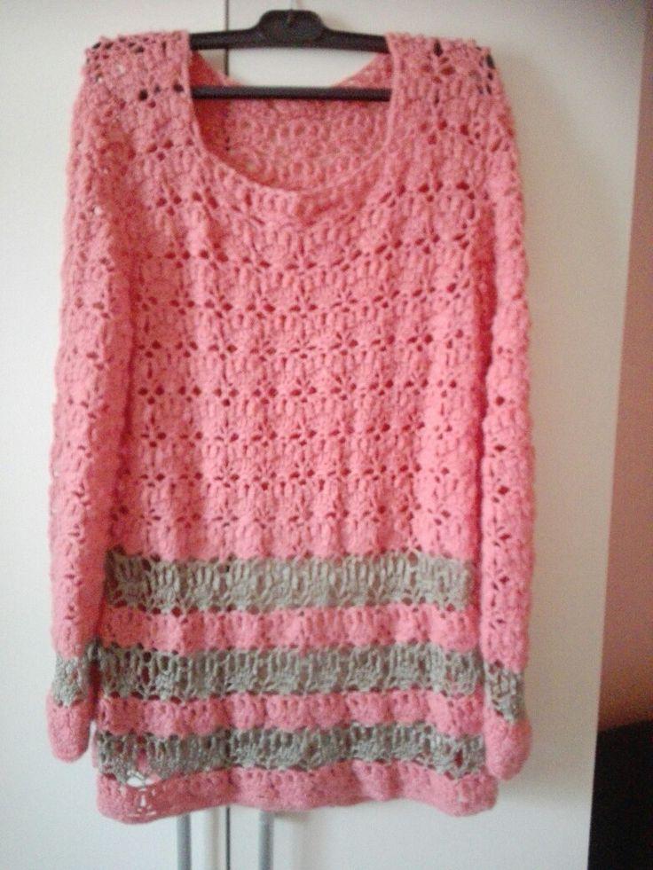 Háčkovaný pulover