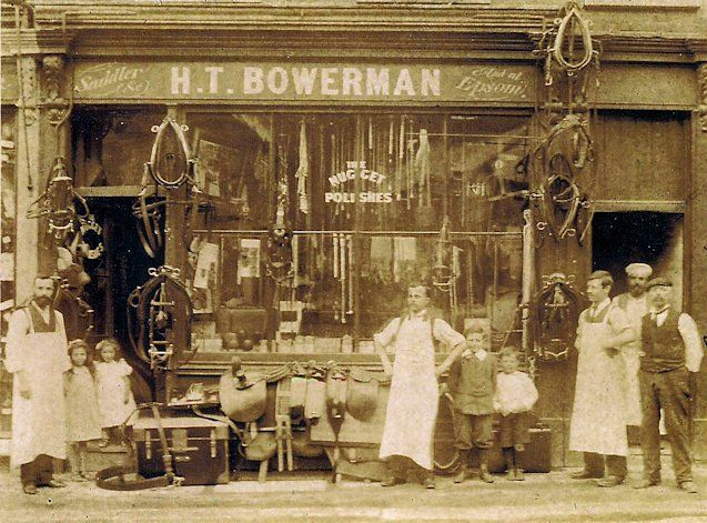 The Bowerman Shop in Ewell 24 December 1904.