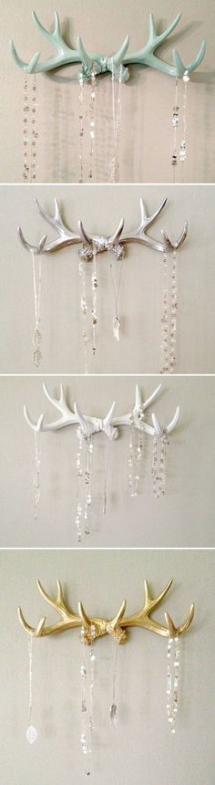 Antlers ! In Mint, Silver, White, and Gold.