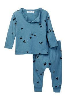 Joah Love Clint Star Print Set (Baby Boys)