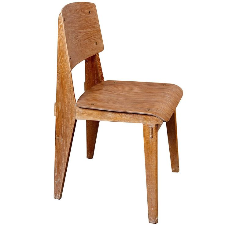 """Standard Chair """"Tout Bois"""" by Jean Prouvé 