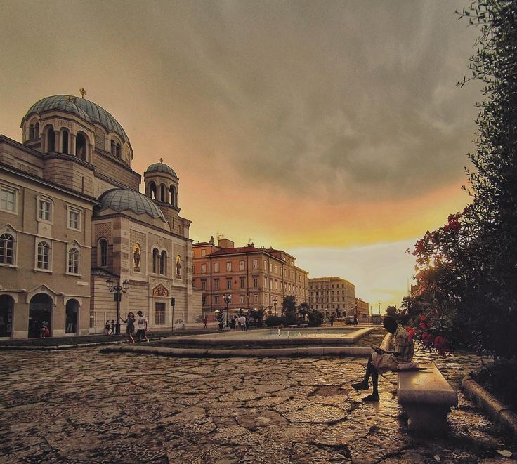 A sunset in Trieste