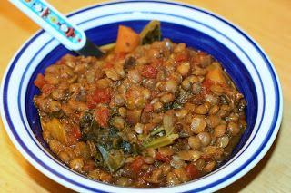 lentil minestrone soup in the slow cooker