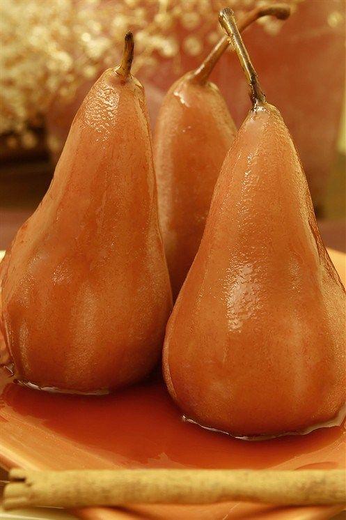 Груши, запеченные в вине марсала