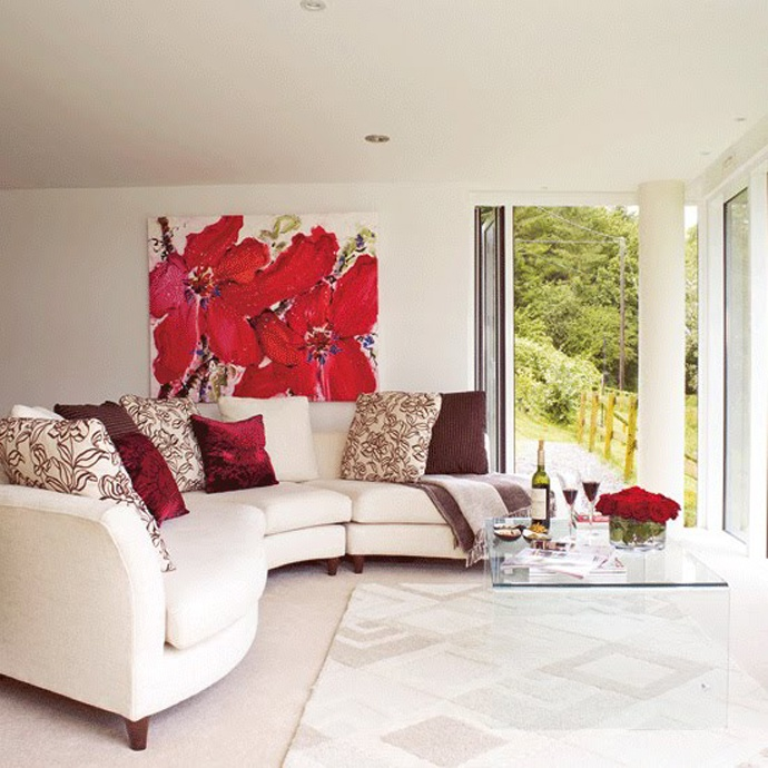 Red And White Living Room Decorating Ideas Classy Design Ideas