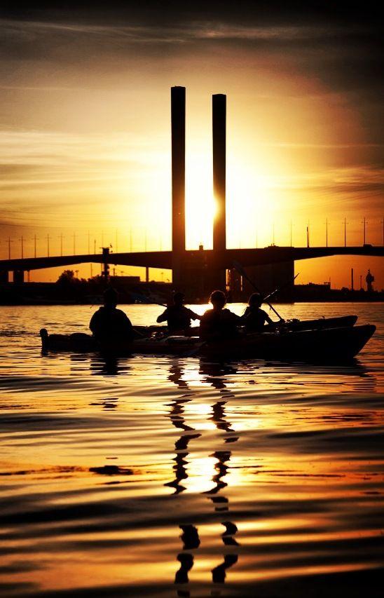 Sunset. Kayak. Melbourne. YES.
