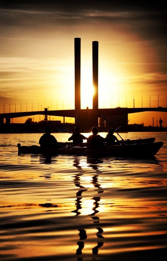 Sunset. Kayak. Melbourne. YES.