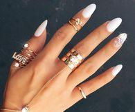 Best 25 rounded stiletto nails ideas on pinterest round nail white round stiletto nails prinsesfo Gallery
