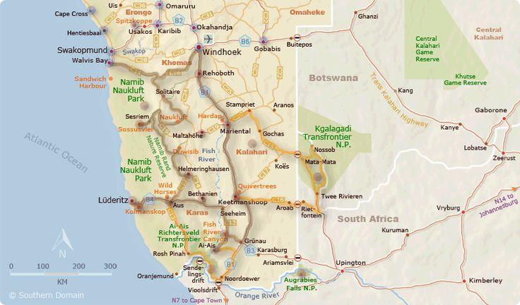 Namibia Area Map