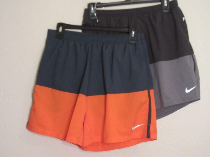 Menscave7 SALE! NIKE Mens Running Shorts Black Gray Orange Medium M Large L #NIKE #Shorts #athletics #runner