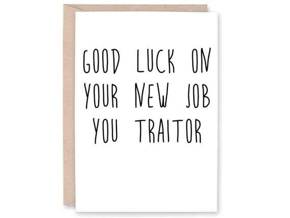 Funny New Job Card Card For Boss Work Card Staff Card Co Etsy In 2020 New Job Card Work Quotes Funny New Job