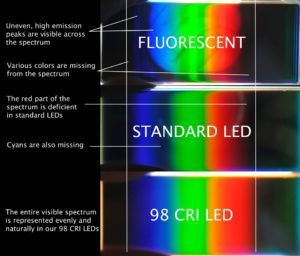 Fluorescent Light Bulbs Color Rendering Index