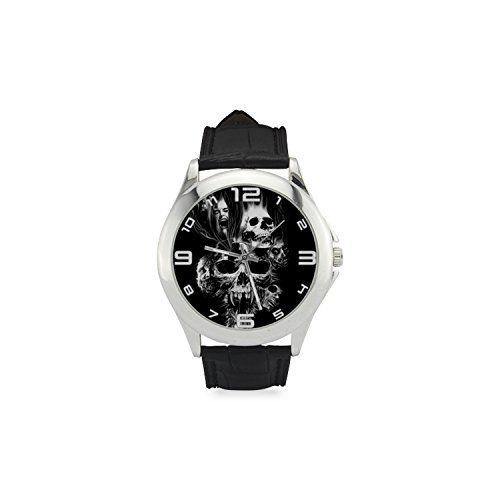 Cool Fire Skull DBLW691 New Women Wrist Watch Leather Band -- Click image to review more details.