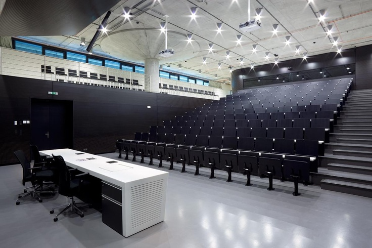 National Technical Library. Praha. Architects: Projecktil Architeckti. SURFACELUX. Surface mounted downlights. ROVASI BOOK 11-12.