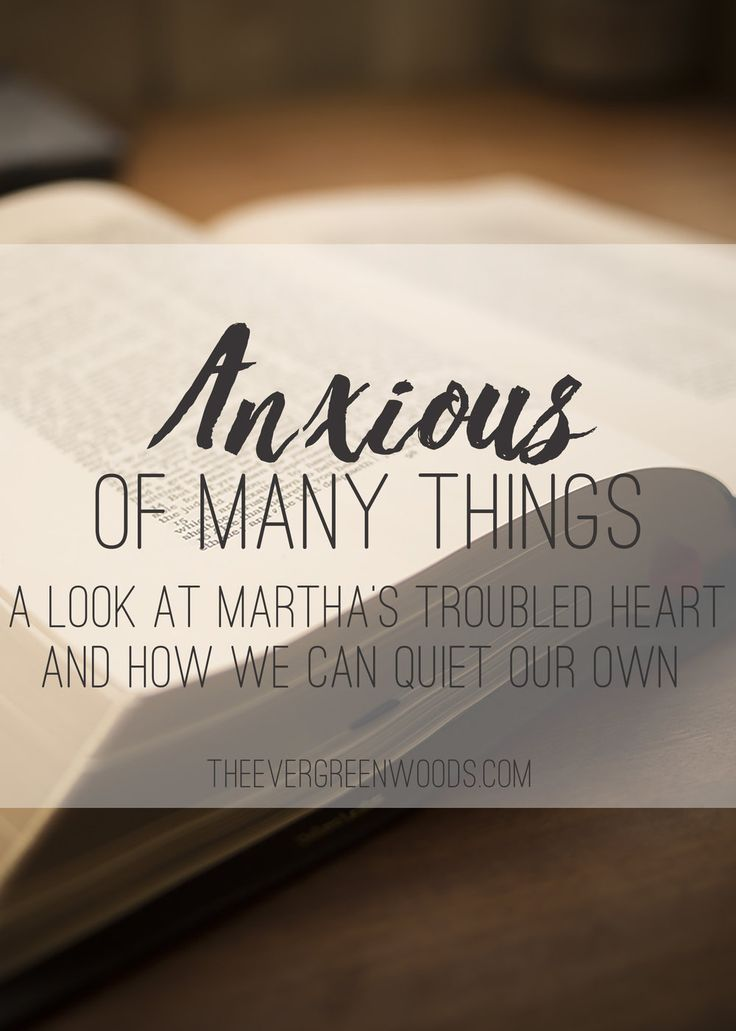 Anxiety and worry are commonplace in our day and age. Here is a study on Martha and her anxiety and the Lord's message to her in that.