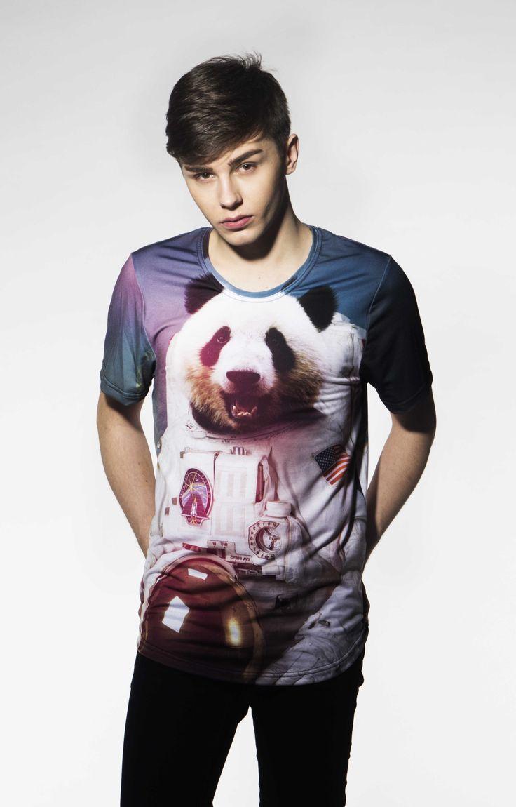 Panda Astronaut T-shirt by Brain Wash Clothing