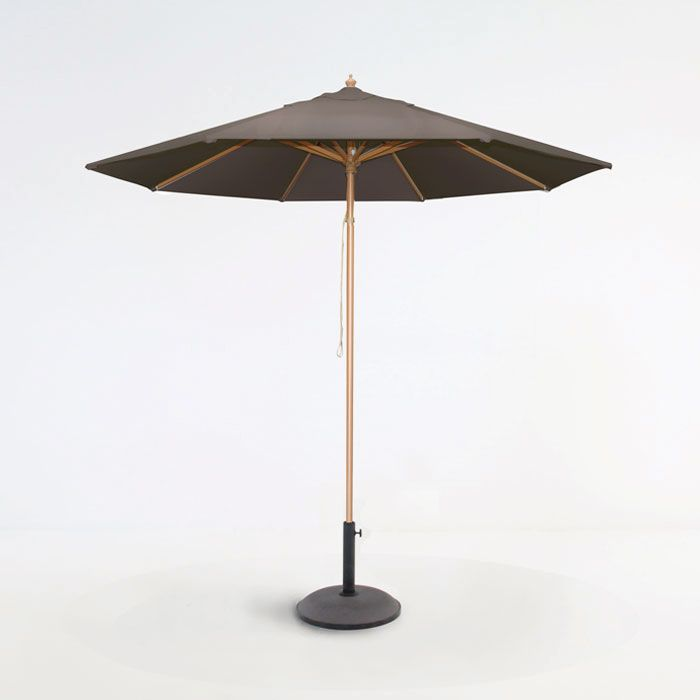 This high quality Sunbrella® umbrella is now available at wholesale prices with Sunbrella® fabric canopy, aluminum poles with a teak finish and an easy pul