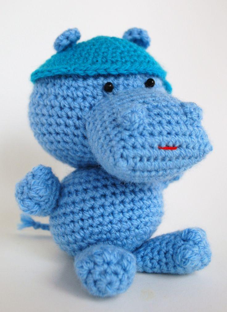 amigurumi a crochet Hippo, virkad flodhäst