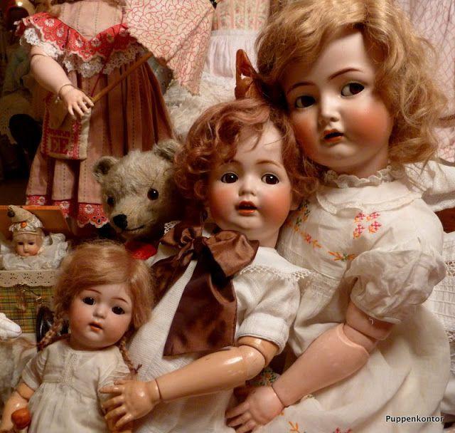 Kammer&Reinhardt doll 117n, Kestner doll 257, Simon&Halbig doll 121