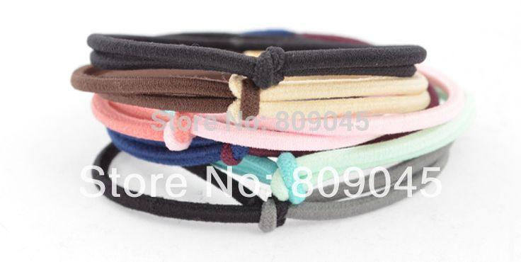 (Min order 10) Kleurrijke bloem haarband voor vrouwen/meisje paardenstaart houder elastische haarband ties haar accessoire HB05 1 stks/partij