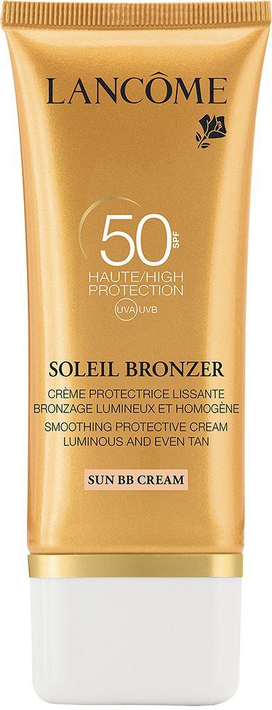 Suojaa tehokkaasti! LANCÔME Soleil Bronzer Sun -BB-voide 50 ml. Hoitava, ravitseva ja ihonsävyä tasoittava BB-aurinkosuojavoide kasvoille. SK 50. 35 €