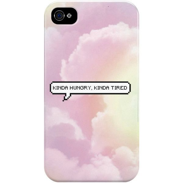 Kinda Hungry, Kinda Tired YouTuber Phone Case Ideal Teenage Girl Gift... ($7.35) ❤ liked on Polyvore featuring accessories, tech accessories, apple iphone headphones and iphone headphones