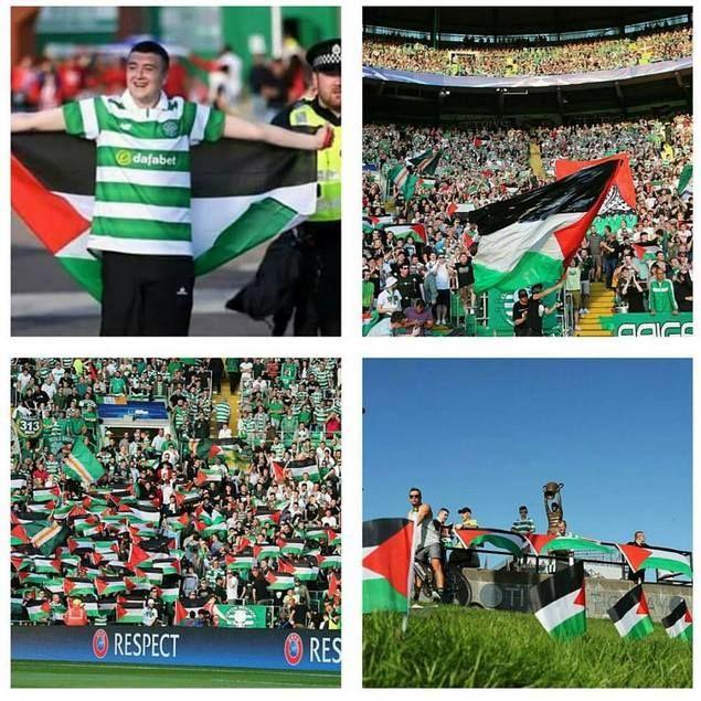 Hadapi Klub Israel di Liga Champions Fans Celtic Kibarkan Bendera Palestina…