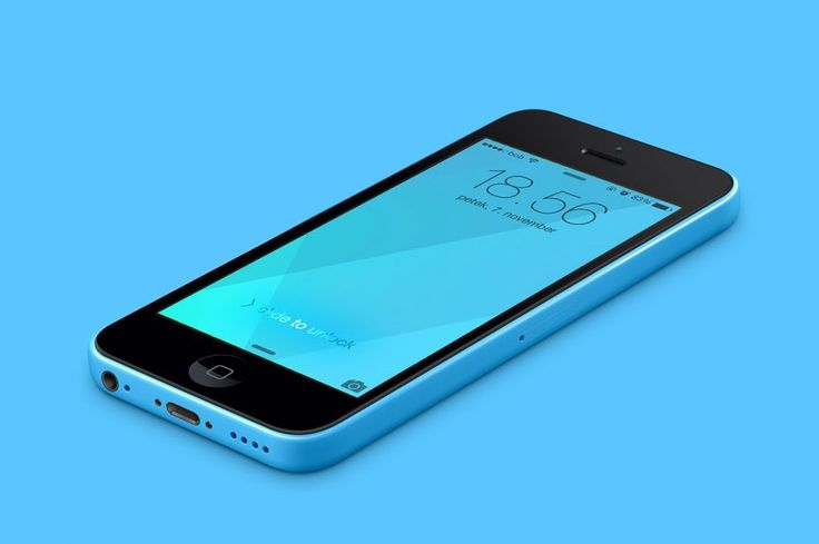 Free Background Designs Created For New IOS 8 IPhone Blue