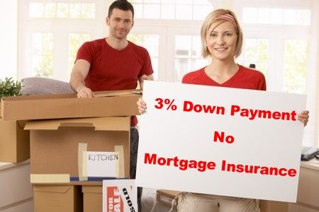 how to get a mortgage loan with no down payment